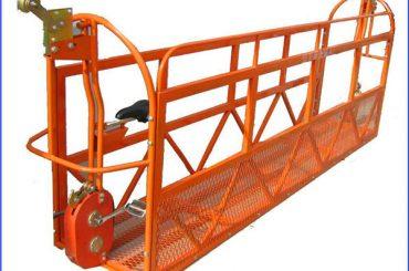 1000 kg 7.5 mx 3 seções liga de alumínio suspenso plataforma de trabalho ZLP1000
