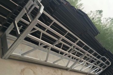 liga de alumínio da forma do ll zlp630 / 800, construção de aço elevador suspendido da plataforma de funcionamento em janelas do edifício