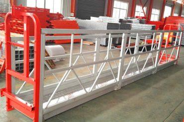 sistemas suspendidos liga de alumínio do andaime 1000 quilogramas 2,2 quilowatts para a limpeza de janela