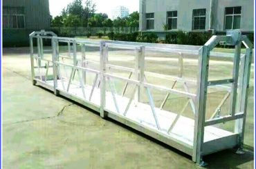 a corda suspendida galvanizada quente plataforma, construção alta da elevação suspendeu a gôndola