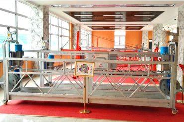 Plataforma suspensa de alumínio zlp630 (ce iso gost) / equipamento de limpeza de janelas de arranha-céus / gôndola temporária / berço / baloiço quente