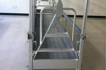 plataforma de trabalho em aço suspenso / em aço suspenso