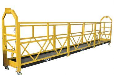 Plataforma suspendida galvanizada quente de aço 1.5KW da corda de liga de alumínio 380V 50HZ