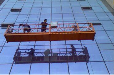 a corda forte da construção suspendeu a plataforma com o fechamento de segurança 30kn zlp1000 2.2kw 2.5m * 3