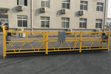 plataforma de alumínio suspendida pintada 500kg / 630kg / 800kg / 1000kg da corda de fio