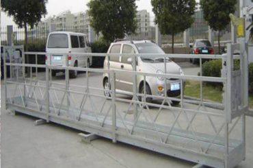 2.5mx 3 seções que trabalham o alumínio das plataformas 800kg do funcionamento com fechamento de segurança 30kn