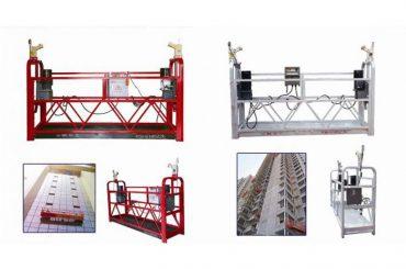 corda que pendura a plataforma suspendida do acesso, máquina da gôndola do elevador da construção zlp630