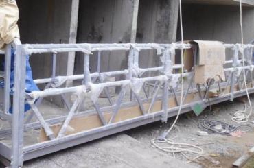 corda de segurança alta altura de levantamento suspendida 300m da plataforma para pintar