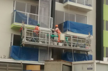 corda suspendida da manutenção da construção plataforma suspendida com grua ltd8.0 zlp800